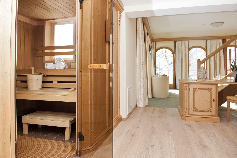 finnische Sauna in der Panoramasuite