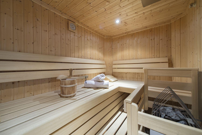 finnische Sauna in der Turmsuite